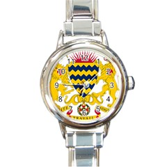 Coat of Arms of Chad Round Italian Charm Watch