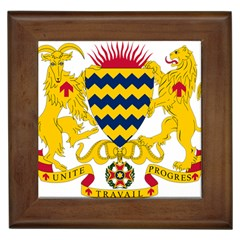 Coat of Arms of Chad Framed Tiles