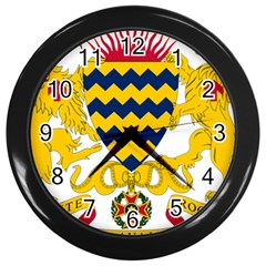 Coat of Arms of Chad Wall Clocks (Black)