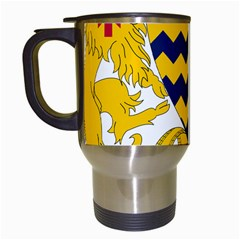 Coat of Arms of Chad Travel Mugs (White)