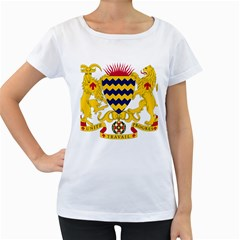 Coat of Arms of Chad Women s Loose-Fit T-Shirt (White)