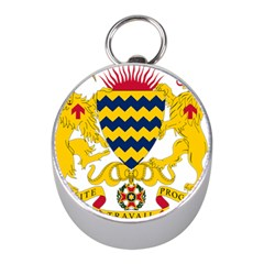 Coat of Arms of Chad Mini Silver Compasses