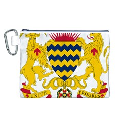 Coat of Arms of Chad Canvas Cosmetic Bag (L)