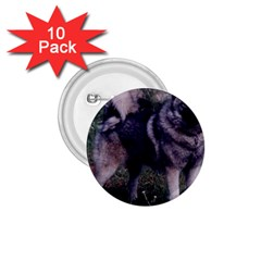 Norwegian Elkhound Full 3 1.75  Buttons (10 pack)