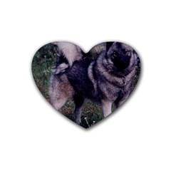 Norwegian Elkhound Full 3 Heart Coaster (4 pack)