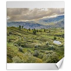 Andean Rural Scene Quilotoa, Ecuador Canvas 8  x 10