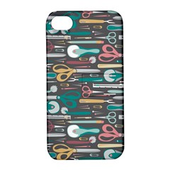 Sewing Stripes Apple iPhone 4/4S Hardshell Case with Stand