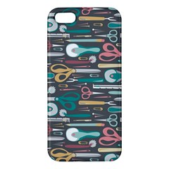 Sewing Stripes Apple iPhone 5 Premium Hardshell Case