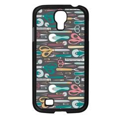 Sewing Stripes Samsung Galaxy S4 I9500/ I9505 Case (Black)