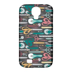 Sewing Stripes Samsung Galaxy S4 Classic Hardshell Case (PC+Silicone)
