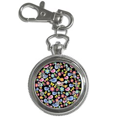 Spring pattern - black Key Chain Watches