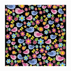 Spring pattern - black Medium Glasses Cloth