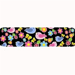 Spring pattern - black Large Bar Mats