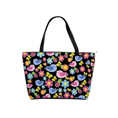 Spring pattern - black Shoulder Handbags