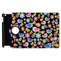 Spring pattern - black Apple iPad 2 Flip 360 Case
