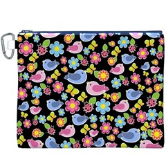 Spring pattern - black Canvas Cosmetic Bag (XXXL)