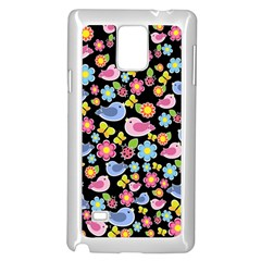 Spring pattern - black Samsung Galaxy Note 4 Case (White)
