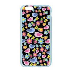 Spring pattern - black Apple Seamless iPhone 6/6S Case (Color)