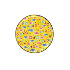 Spring pattern - yellow Hat Clip Ball Marker