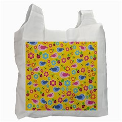 Spring pattern - yellow Recycle Bag (Two Side)