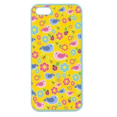 Spring pattern - yellow Apple Seamless iPhone 5 Case (Color)