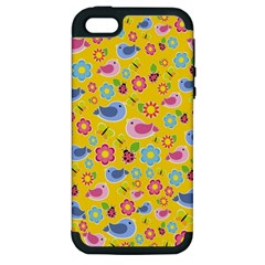 Spring pattern - yellow Apple iPhone 5 Hardshell Case (PC+Silicone)