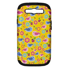 Spring pattern - yellow Samsung Galaxy S III Hardshell Case (PC+Silicone)