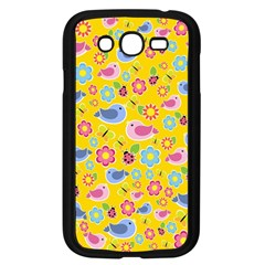Spring pattern - yellow Samsung Galaxy Grand DUOS I9082 Case (Black)