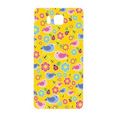 Spring pattern - yellow Samsung Galaxy Alpha Hardshell Back Case