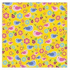 Spring pattern - yellow Large Satin Scarf (Square)
