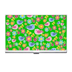 Spring pattern - green Business Card Holders