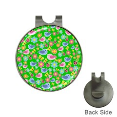Spring pattern - green Hat Clips with Golf Markers