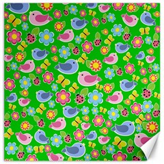 Spring pattern - green Canvas 12  x 12