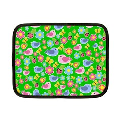 Spring pattern - green Netbook Case (Small)