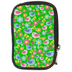 Spring pattern - green Compact Camera Cases