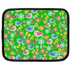 Spring pattern - green Netbook Case (XXL)