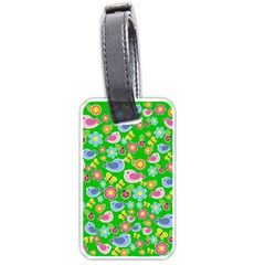 Spring pattern - green Luggage Tags (Two Sides)