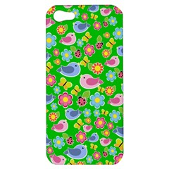 Spring pattern - green Apple iPhone 5 Hardshell Case