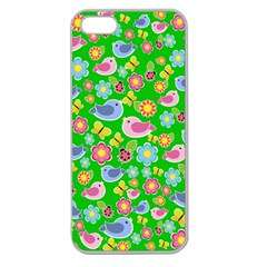 Spring pattern - green Apple Seamless iPhone 5 Case (Clear)