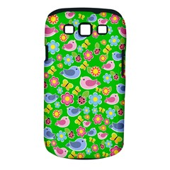 Spring pattern - green Samsung Galaxy S III Classic Hardshell Case (PC+Silicone)