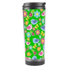 Spring pattern - green Travel Tumbler