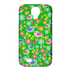 Spring pattern - green Samsung Galaxy S4 Classic Hardshell Case (PC+Silicone)