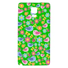 Spring pattern - green Galaxy Note 4 Back Case