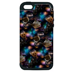 Galaxy Cats Apple iPhone 5 Hardshell Case (PC+Silicone)