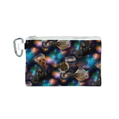 Galaxy Cats Canvas Cosmetic Bag (S)