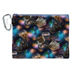 Galaxy Cats Canvas Cosmetic Bag (XXL)
