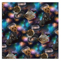 Galaxy Cats Large Satin Scarf (Square)