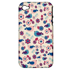 Vintage spring Apple iPhone 4/4S Hardshell Case (PC+Silicone)