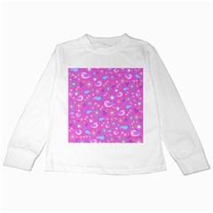 Spring pattern - pink Kids Long Sleeve T-Shirts