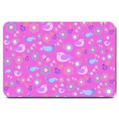 Spring pattern - pink Large Doormat
